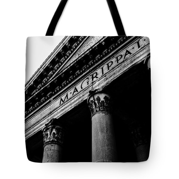 Rome - The Pantheon Tote Bag by Andrea Mazzocchetti