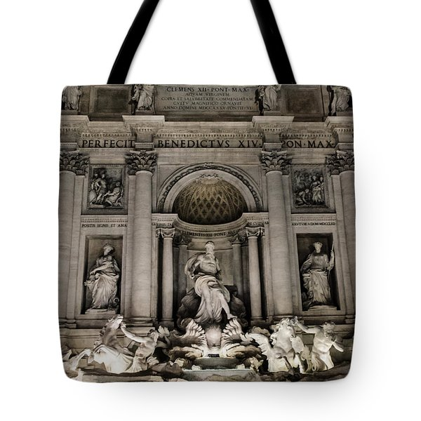 Rome - The Trevi Fountain At Night 3 Tote Bag