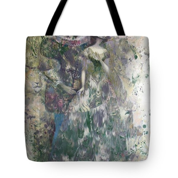 Romeo And Juliet. Monotype Tote Bag