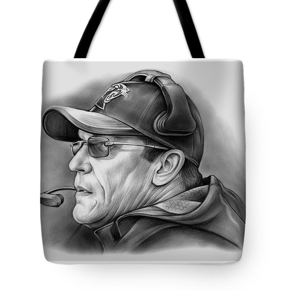 Ron Rivera Tote Bag by Greg Joens