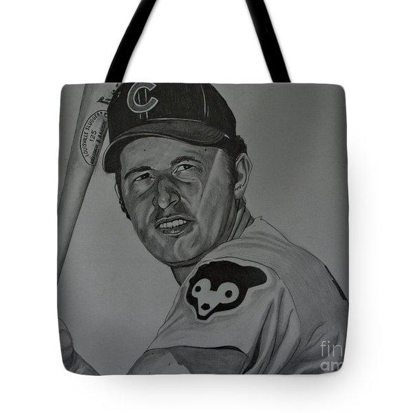 Ron Santo Portrait Tote Bag by Melissa Goodrich