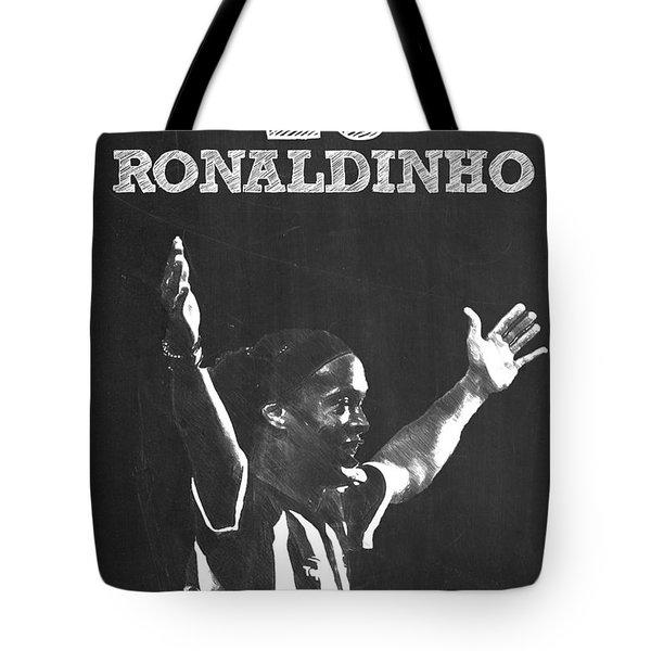Ronaldinho Tote Bag by Semih Yurdabak