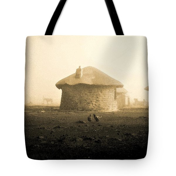 Tote Bag featuring the photograph Rondavel In Lesotho by Susie Rieple