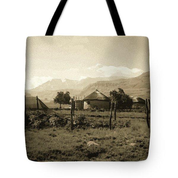 Rondavel In The Drakensburg Tote Bag