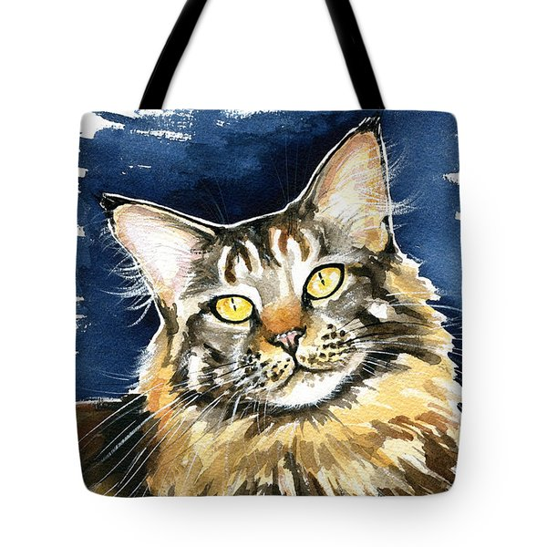 Ronja - Maine Coon Cat Painting Tote Bag