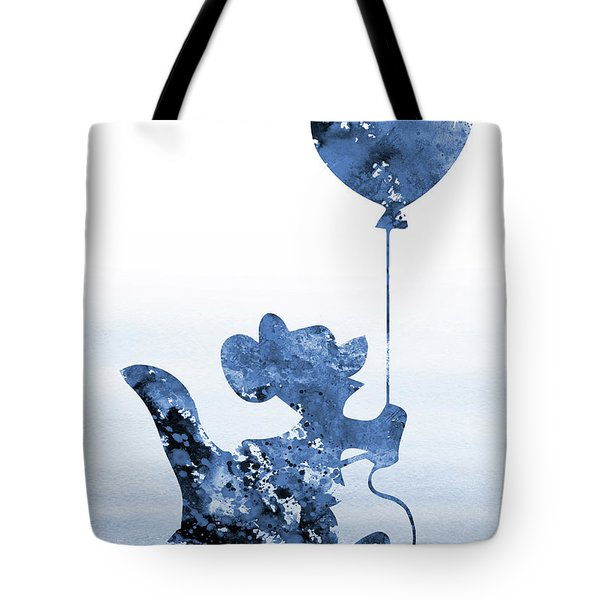 Roo With A Baloon-blue Tote Bag