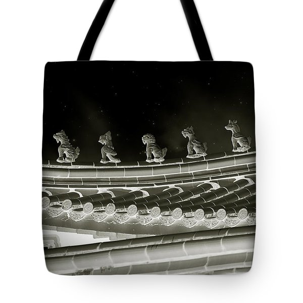 Roof National Palace Museum Taiwan City - Taipei  Tote Bag by Christine Till