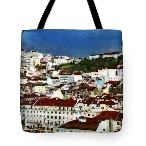Tote Bag featuring the photograph Roofs Of Lisbon by Dariusz Gudowicz