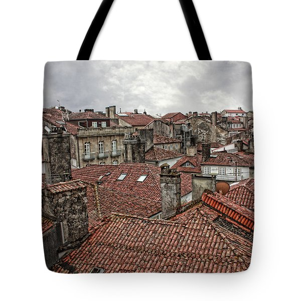 Roofs Over Santiago Tote Bag by Angel Jesus De la Fuente