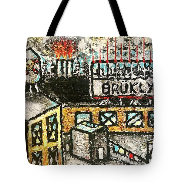 Tote Bag featuring the painting Rooftop by Joe Bloch