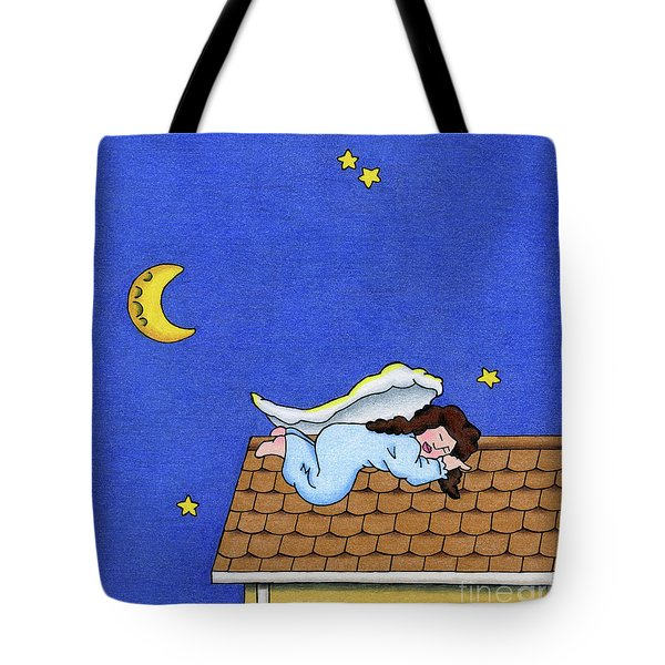 Rooftop Sleeper Tote Bag by Sarah Batalka