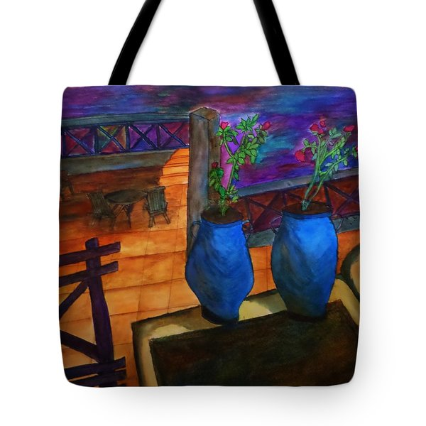 Rooftop View Tote Bag by Christy Saunders Church