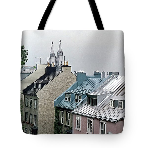 Tote Bag featuring the photograph Rooftops by John Schneider