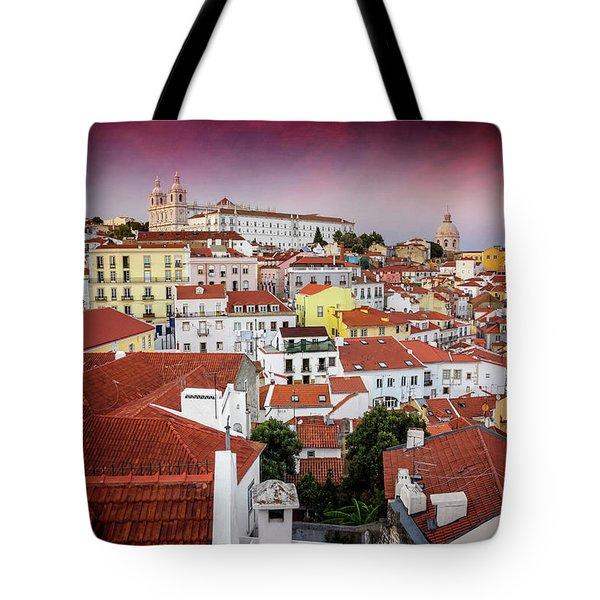 Rooftops Of Alfama Lisbon  Tote Bag