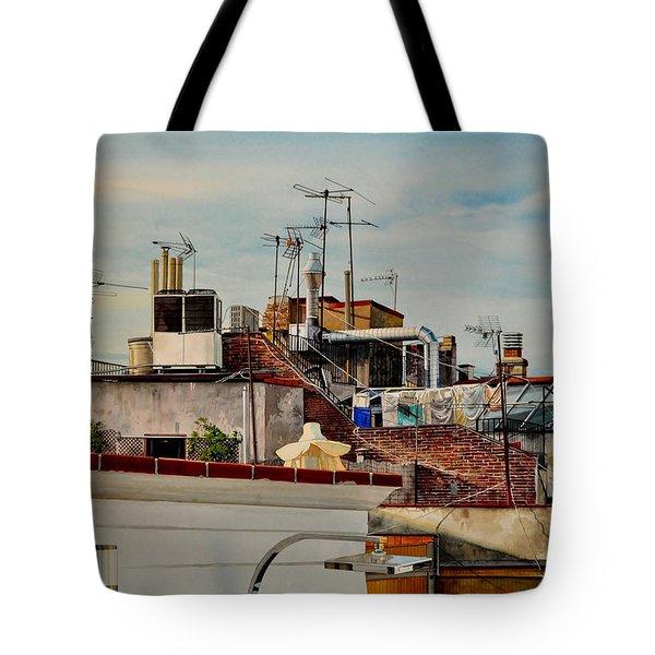 Rooftops Of Barcelona Tote Bag