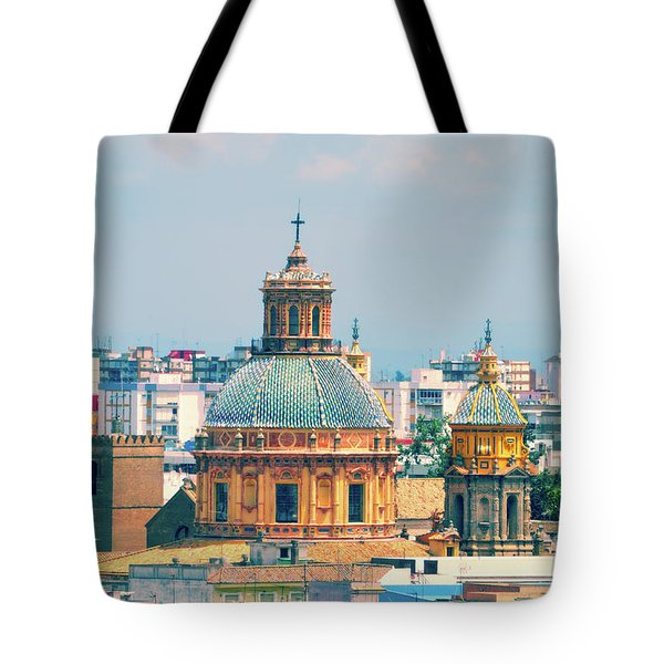 Tote Bag featuring the photograph Rooftops Of Seville - 1 by Mary Machare