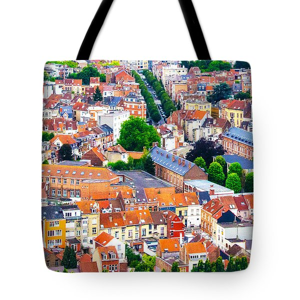 Tote Bag featuring the photograph Rooftops by Pravine Chester