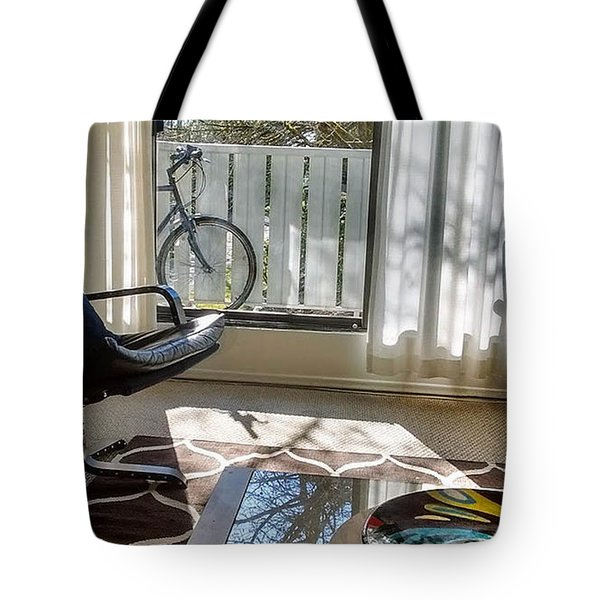 Tote Bag featuring the photograph Room With A View by Bill Thomson