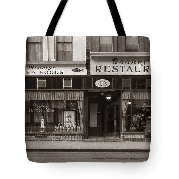 Rooney's Restaurant Wilkes Barre Pa 1940s Tote Bag