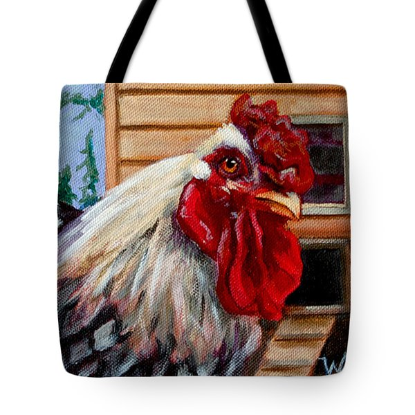 Tote Bag featuring the painting Roopert by Pattie Wall