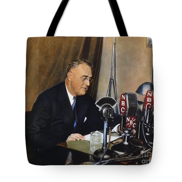 Roosevelt: Fireside Chat Tote Bag by Granger