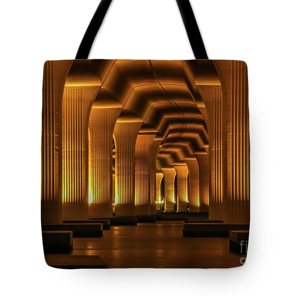 Tote Bag featuring the photograph Roosevelt Night Shot by Tom Claud