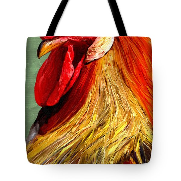 Tote Bag featuring the digital art Rooster 1 by James Shepherd
