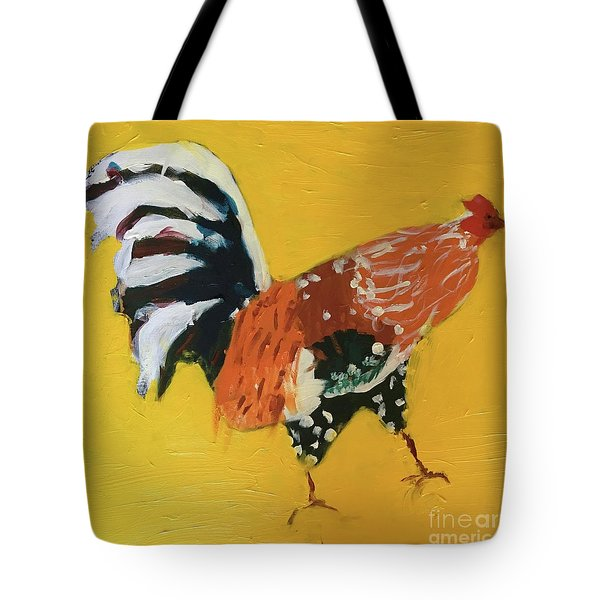 Tote Bag featuring the painting Rooster 2 by Donald J Ryker III