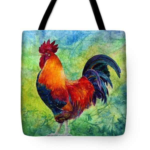 Tote Bag featuring the painting Rooster 2 by Hailey E Herrera