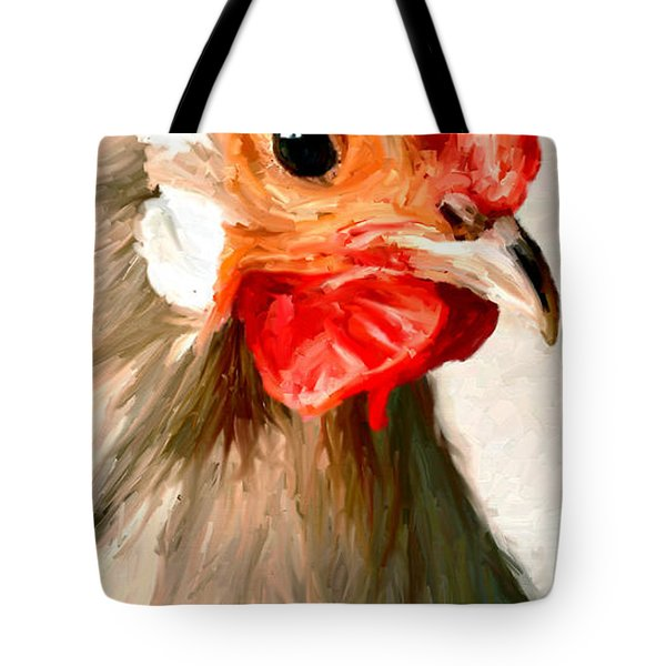 Tote Bag featuring the digital art Rooster 2 by James Shepherd