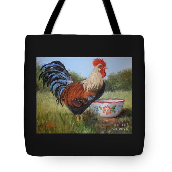Rooster And Bowl I Tote Bag