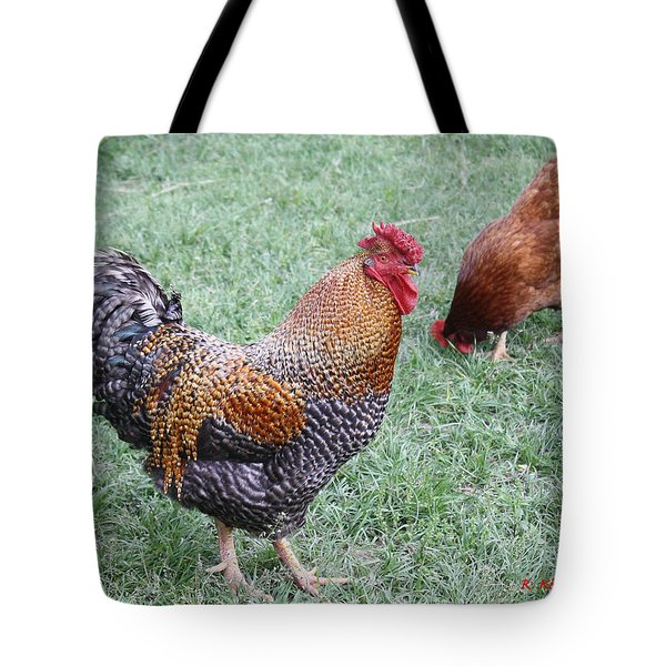 Rooster And Hen Tote Bag