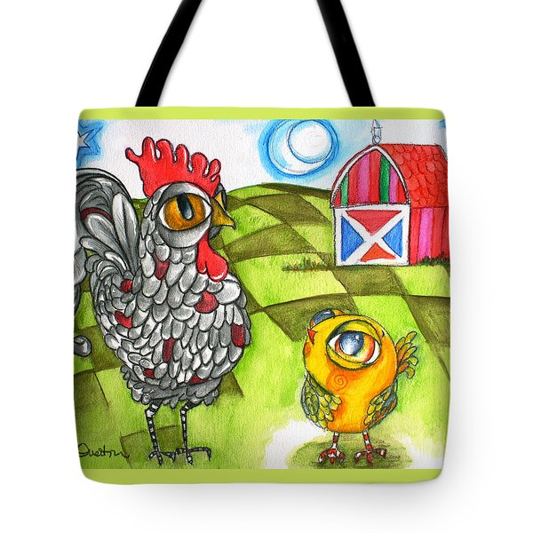 Rooster Coburn And The Chick Tote Bag