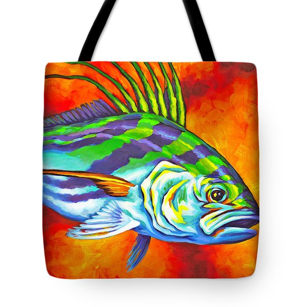 Rooster Fish Tote Bag