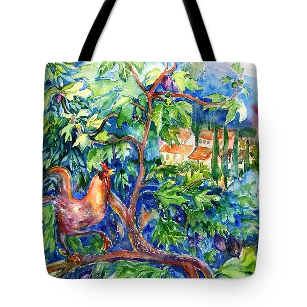 Rooster In A Fig Tree, Tuscany   Tote Bag