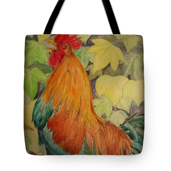 Rooster Tote Bag by Laurianna Taylor