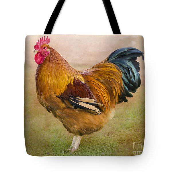 Rooster Tote Bag by Linsey Williams