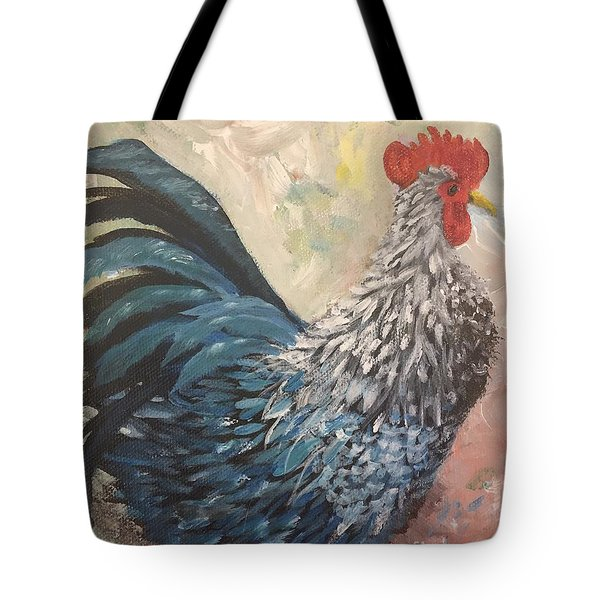 Rooster Of The Year Tote Bag by Lucia Grilletto
