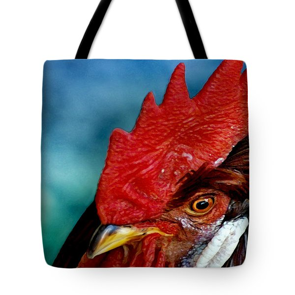 Rooster Tote Bag by Robert Lacy