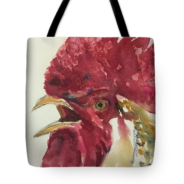 Rooster Tote Bag by Yoshiko Mishina