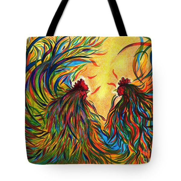 Roosters Frienship Tote Bag