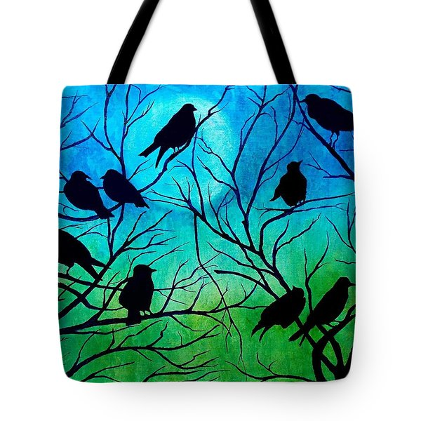 Tote Bag featuring the painting Roosting Birds by Susan DeLain
