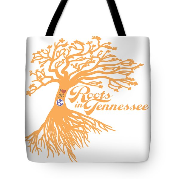 Tote Bag featuring the photograph Roots In Tn Orange by Heather Applegate