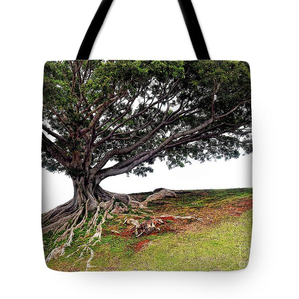 Tote Bag featuring the photograph Roots Of Honolulu by Gina Savage