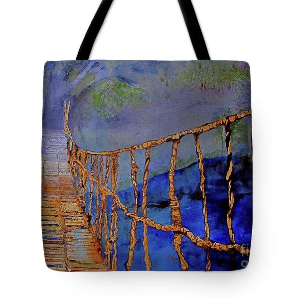 Rope Bridge Tote Bag