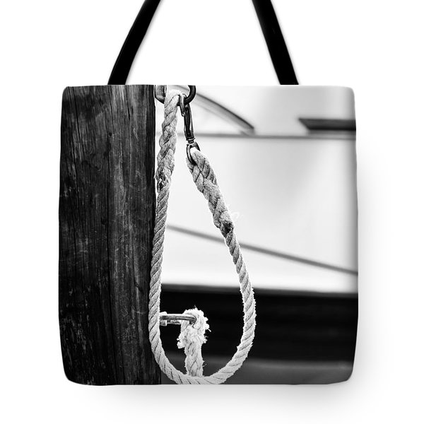 Rope Fence Fragment In Harbour Tote Bag