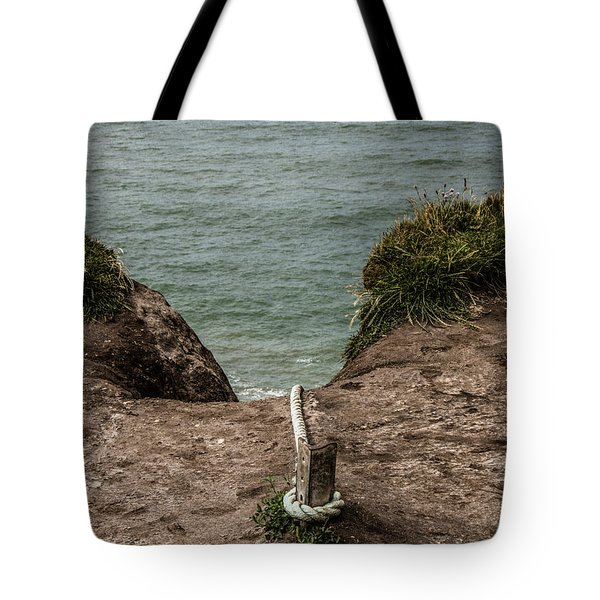 Rope Ladder To The Sea Tote Bag
