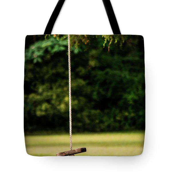 Tote Bag featuring the photograph Rope Swing  by Shelby Young