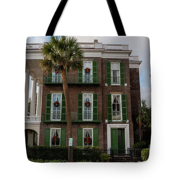 Roper Mansion In December Tote Bag