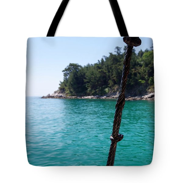 Ropes And Water Tote Bag